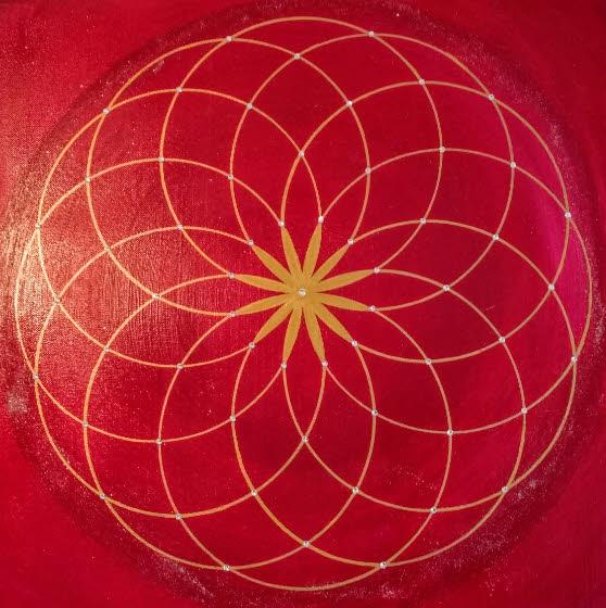Genesis Kunst-Gemälde modern in Acryl auf Leinwand handgemalt