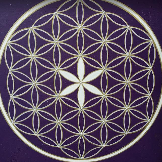 Blume des Lebens Symbol Seelenbilder Acryl handgemalte Unikate