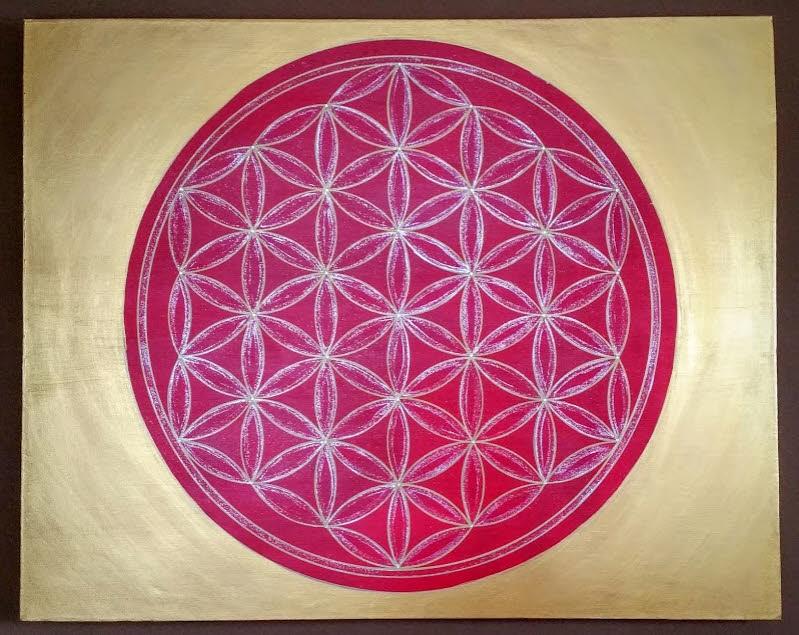 Blume des Lebens modernes Gemälde Wandbilder Acryl handgemalt